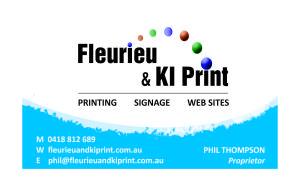 Fleurieu & KI Print final business card